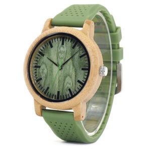 Montre En Bois Bracelet Vert – Nativa